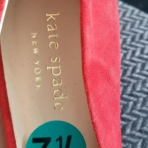 kate spade Shoes - NWOB Kate Spade Red Suede heels size 7